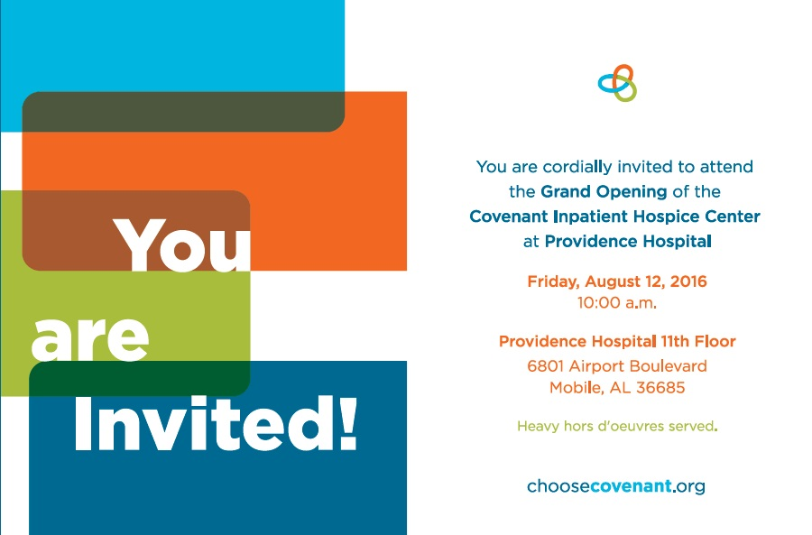 Grand Opening Invitation - Covenant Providence IPC