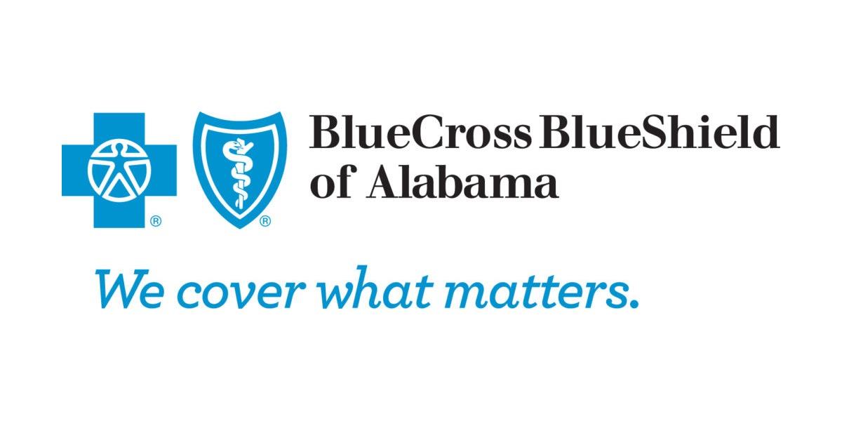 Blue Cross Blue Shield of Alabama logo.