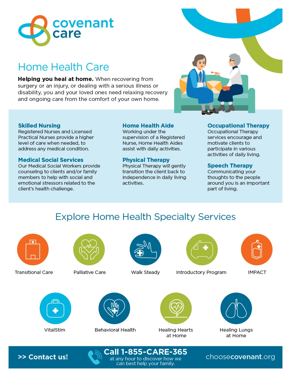 Covenant Home Health Infographic Summary