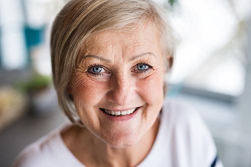 Senior woman with kind eyes